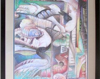 ANIMACHINE/(   FRAMED ) Ducks, Customs Painting, Home Decor