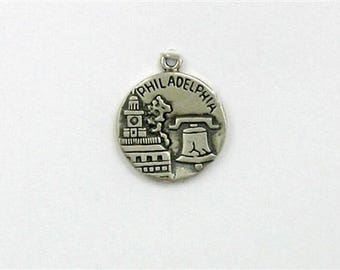 Sterling Silver Philadelphia City of Brotherly Love Charm