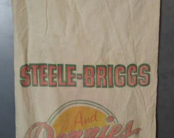 Vintage Steele-Briggs Grain Sack Seed Bag