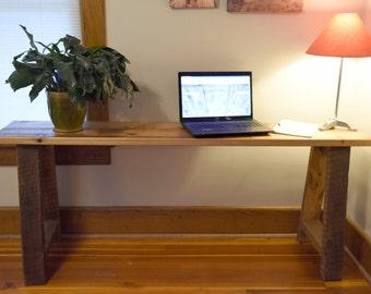 Reclaimed Wood Laptop Desk / Sofa Table