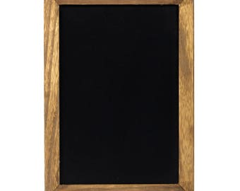 Rustic Framed Wall Mount Steel Chalkboard Magnetic With Wooden Frame Both Sides Writable
