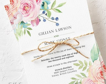 Boho Pink - Wedding Invitations (Style 13765)