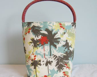 Book Club Tote - Abstract Palms Red