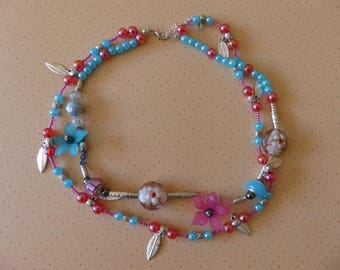 Floral MULTISTRAND Choker necklace