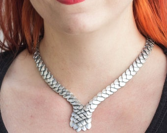 Chainmaille Scale maille necklace chocker Pholidota