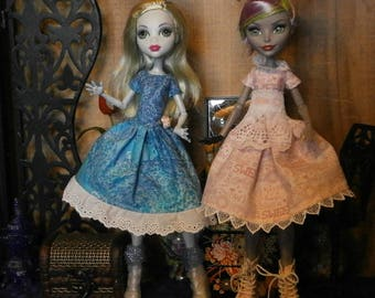 Two dress set for monster high and ever after high dolls