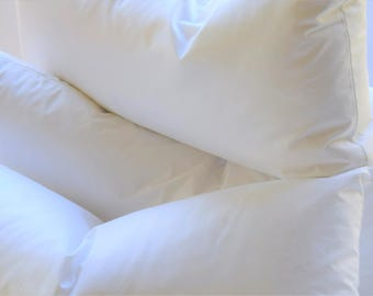 """12 x 24, 12 x 22"""" Down/Feather Pillow Inserts, 10/90 Pillow Forms, Soft & Plump, Double Layered, Hypoallergenic, Fast Shipping!"""