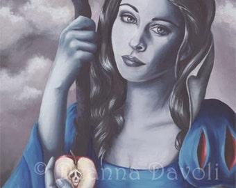 Snow White Art Print 11x14 Fantasy Art Print Fairy Tale Art