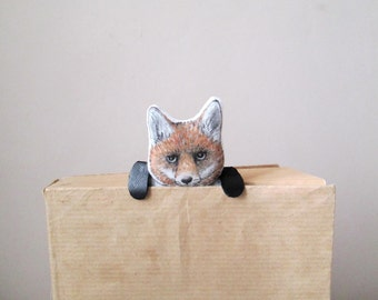 fox bookmark kids bookmarks miniature animals gift idea for teachers readers students back to school unusual fun reading accessory