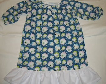 Nightgown blue pattern 4 owls