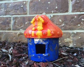 Blue and Orange Fairy House