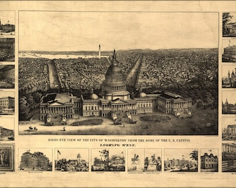 Poster, Many Sizes Available; Map Of Washington D.C. U.S. Capitol 1890