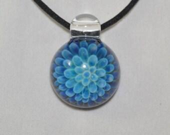 Heady Glass Pendant - Trippy Blown Glass Necklace - Glass Jewelry - Lampwork Pendant -Boro Glass Implosion - Visionary Glass Arts