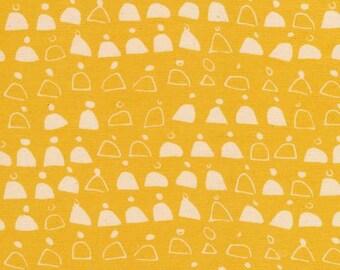 CANVAS - Rain Walk - Gold Swell - Anna Graham - Unbleached  Organic Cotton Canvas - Fabric By Half Yard
