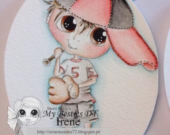 INSTANT DOWMLOAD Digital Digi Stamps Big Eye Big Head Dolls Digi Bestie Boyfriends img569  By Sherri Baldy