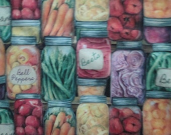 Realistic Canned Goods Food Beans Carrots More Cotton Fabric Fat Quarter or Custom Listing