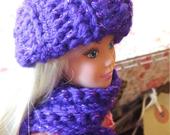 Crocheted doll hats