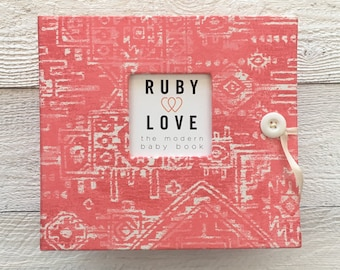 BABY BOOK | Coral Sioux Tribal Album