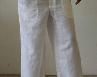 Mens  Linen Drawstring  Baggy look pants, Plus size.