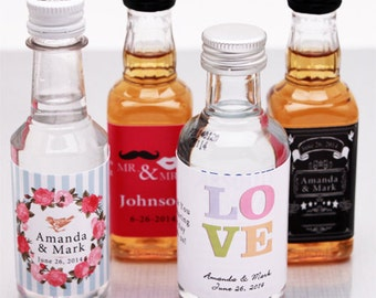 25 pcs Personalized Mini Liquor Bottle Stickers (PPD-JM399499)