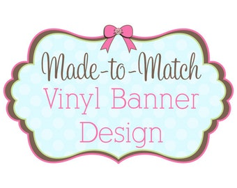 Made to Match Vinyl Banner Design - Fits Vista Print Templates - Craft Show Banner - Exhibit Banner - Vertical Banner  - Vinyl Sign