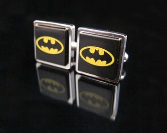 Steampunk Lego® Batman cufflinks