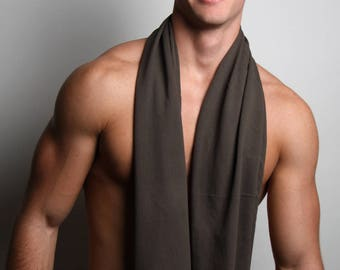Brown Scarf, Infinity Scarf, Festival Clothing, Mens Gift, Gift Ideas, Man Gifts, Boyfriend Gift, Husband Gift, Gift for Boyfriend, Mens