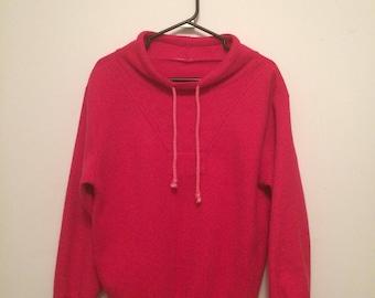 Bright pink fushia vintage sweater S