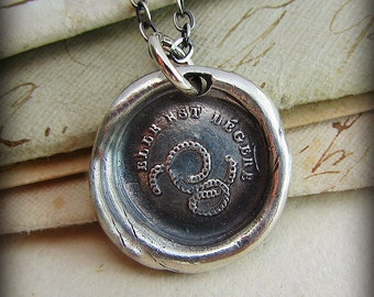 Marriage & Commitment Wax Seal Necklace - The Chains That Bind Us Are Light - Unity Necklace - Antique French Wax Seal Jewelry - Unity FP340