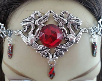 Dragon Circlet of the Blood Order celtic bridal elven druid priestess warrior