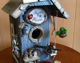 Custom Handmade Birdhouses / Birdhouses / Clemson Tigers Birdhouse/ Nautical Birdhouse/ Occasion Themed Birdhouses