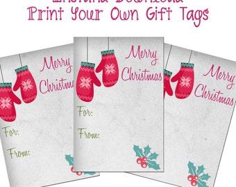 Gift Tags Printable Christmas Tags