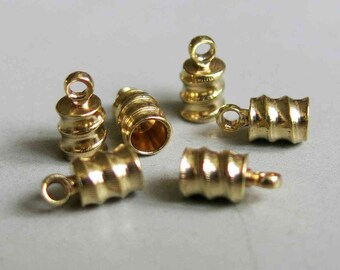 100pcs Raw Brass Cap For Tassel, Findings 8mm x 4mm - F161