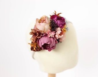 couture headband, over the top headband, floral headband baby, floral headband toddler, first birthday flower crown, flower crown headband