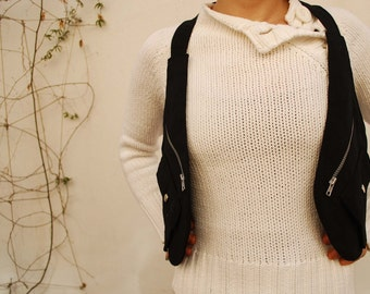 Black Holster Vest / Holster Bag / Travel Bag / Utility Holster / Festival Utility Vest / Holster Purse