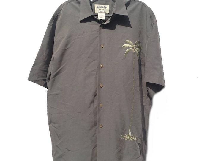 Medium Bamboo Cay Resort Wear Palm Tree Embroidered Shirt