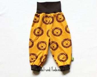 Baby Pants, Baby Harem Pants, Gender neutral Baby Pants, toddler Harem pants, Pants with Lions