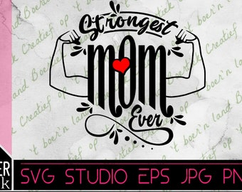 Strongest mom ever, cutting file, svg/studio/eps/jpg/png