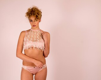 Flora: Silk and Lace Lingerie Set