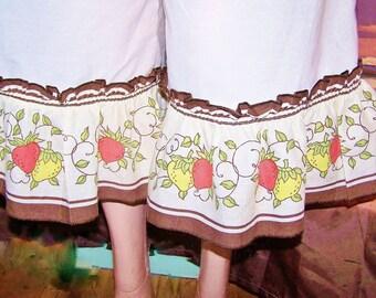 Bloomers, Ruffled bloomer, Pantaloons, Strawberry garden ruffles, size m / L