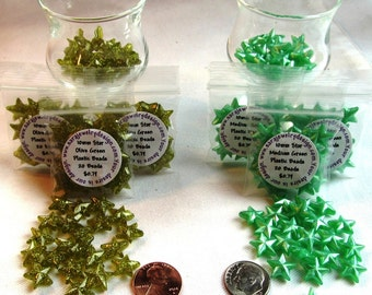 10mm Plastic Star Beads available in Two Colors