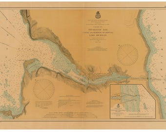 Sturgeon Bay and Canal 1901 - Lake Michigan, Wisconsin - Nautical Map Reprint 30,000 scale - Great Lakes #7 - LS94