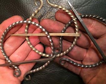 Large Bronzed Steel Penannular Pin