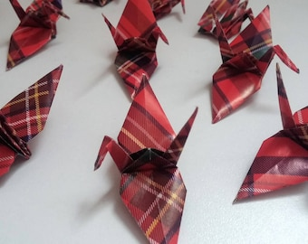 Set of origami cranes: Collection Scotland