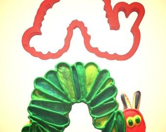 "Caterpillar Cookie Cutter,  5"", cake topper cookie, inch worm cookie cutter"