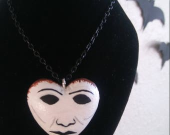Halloween Michael Myers mask necklace
