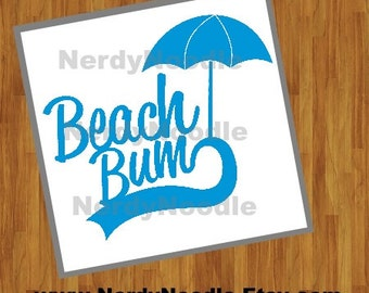 Beach Bum Decal, Beach Bum Laptop Decal, Beach Bum Car Decal, Beach Bum Tumbler Decal, Beach Decal - You choose size and color