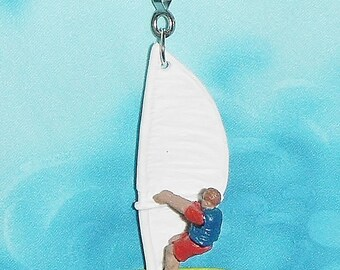 One - Awesome! Wind Surfer Sail Sea Ocean Decorative ~ Ceiling Fan/Light Pull Chain