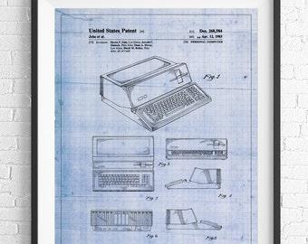 Apple Computer Patent Print, Apple Computer Art, Blueprint, Computer Poster, Computer Art, Steve Jobs, Computer Print, Computer Geek Gifts