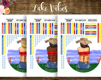Lake Vibes | Erin Condren Notes | Recollections Notes | EC Notes | Recollections Notes | Printable Planner Stickers | Planner Printables